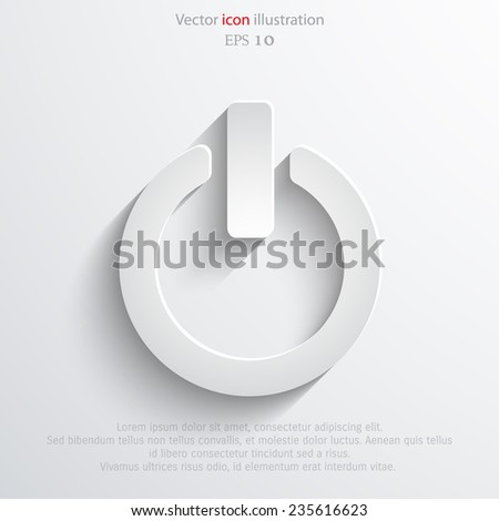 On Off switch vector icon. Eps 10 vector illustration. - stock vector