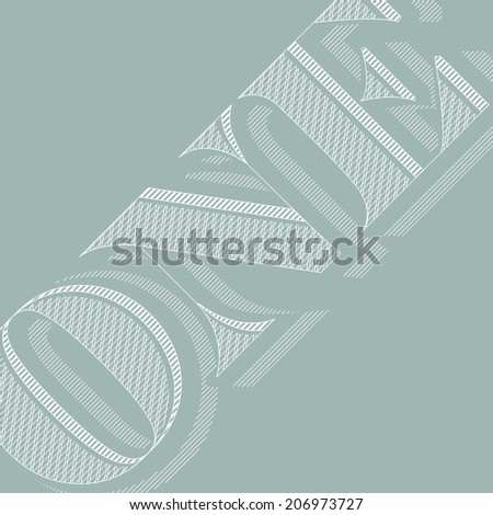 One in a million - stock vector