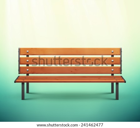 One isolated bench, eps 10 - stock vector