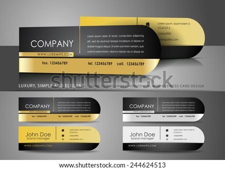 One side rounded mini business cards design - stock vector