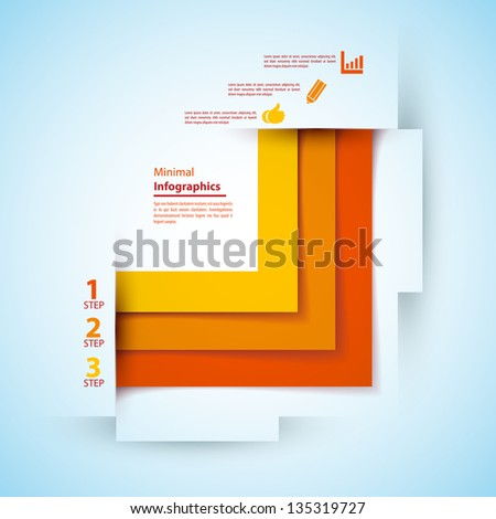 One, two, three infographics ribbons. Vector illustration for your business presentation - stock vector