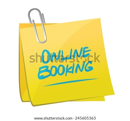 online booking memo post illustration design over a white background - stock vector