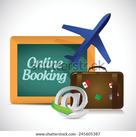 online booking. travel concept illustration design over a white background - stock vector