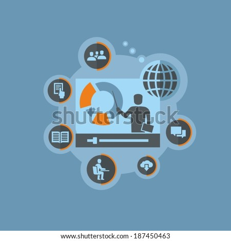Online education  - stock vector