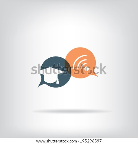 Online education concept infographics with modern technology. Eps10 vector illustration. - stock vector