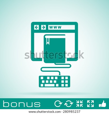 online education icon - stock vector