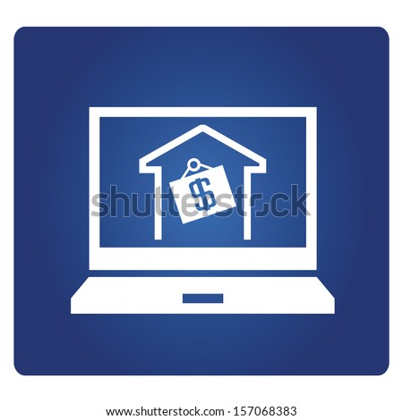 online home sale - stock vector