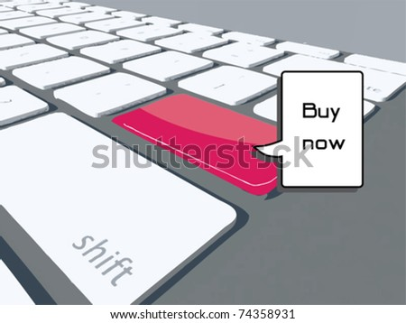 online keyboard - stock vector
