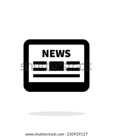 Online news application icon on white background. Vector illustration. - stock vector
