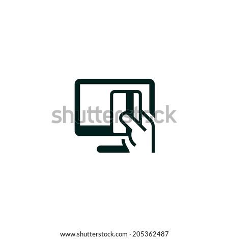 Online payment symbol - stock vector