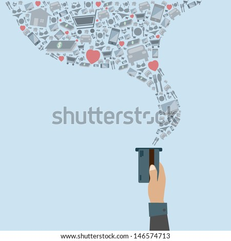 Online payments - stock vector