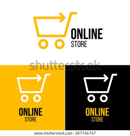 Online shop vector logo. For business. - stock vector