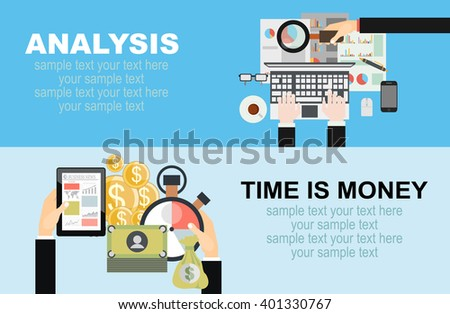 Online shopping concept. Concepts for business planning and accounting, analysis,career, audit, project management, marketing, research in flat design style. - stock vector