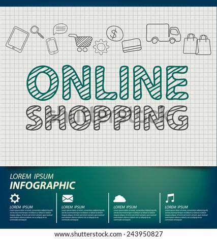 Online shopping concept vector Illustration - stock vector