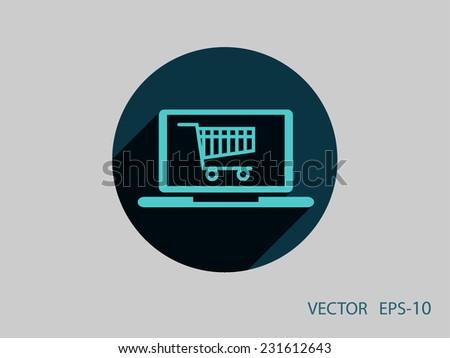 Online shopping icon - stock vector