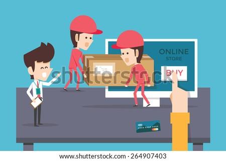 Online store - stock vector