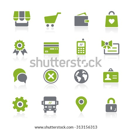 Online Store Icons // Natura Series - stock vector