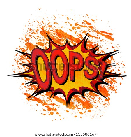 Oops. Comic book explosion. - stock vector