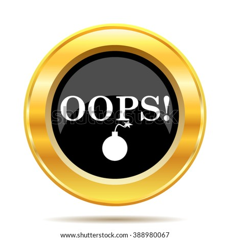 Oops icon. Internet button on white background. EPS10 vector.