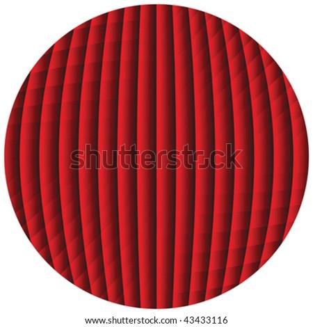 op art sphere - stock vector