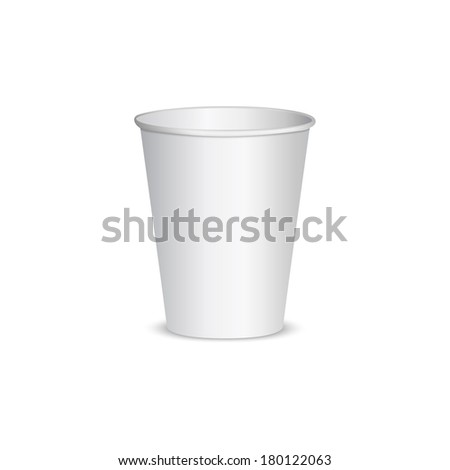 Open blank paper cup for coffee. isolated on white background - stock vector