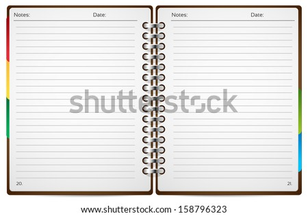 Open Book - stock vector
