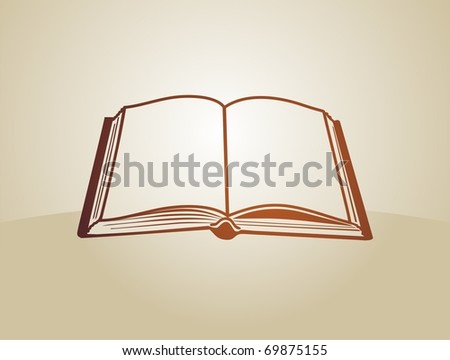 Open book color - stock vector