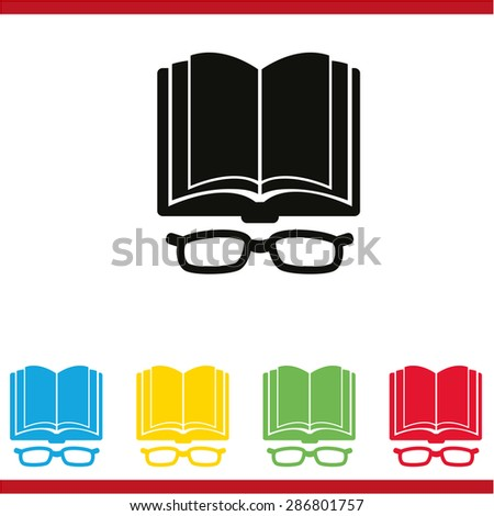 Open book icon - stock vector