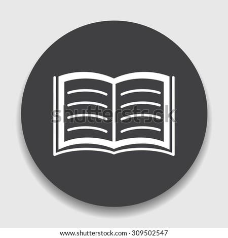 Open book icon.  - stock vector
