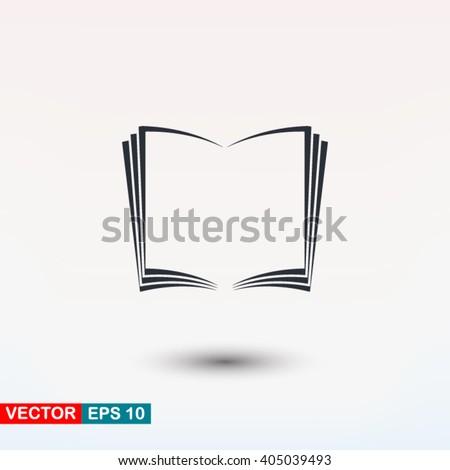 Open book icon, Open book icon eps, Open book icon art, Open book icon jpg, Open book icon web, Open book icon ai, Open book icon app, Open book icon flat, Open book icon logo, Open book icon sign - stock vector