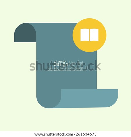 Open book with space for saying, quotes, excerpts. Chat symbol. Blank scroll for text and messages. - stock vector