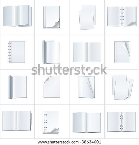 open books - stock vector