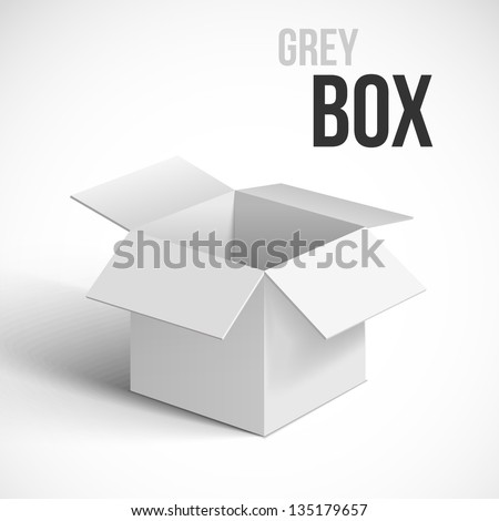 Open box. Vector illustration. - stock vector
