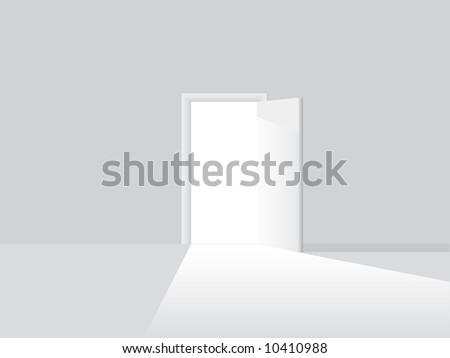 Open door - stock vector