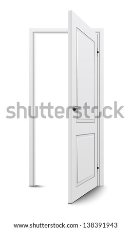 Open door - stock vector