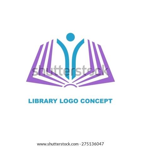 Open education for everyone logo concept - stock vector