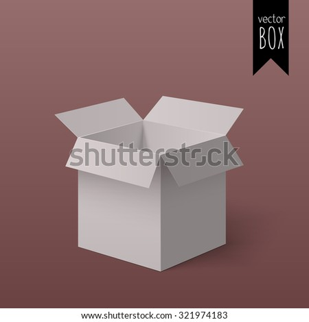 Open light box for your design isolated on the background with gradient. - stock vector