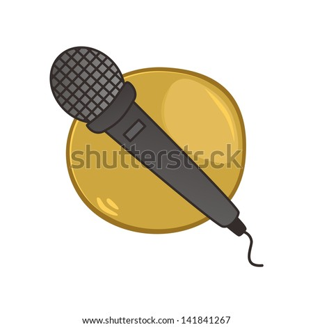 open mic stand up comedy sign - stock vector