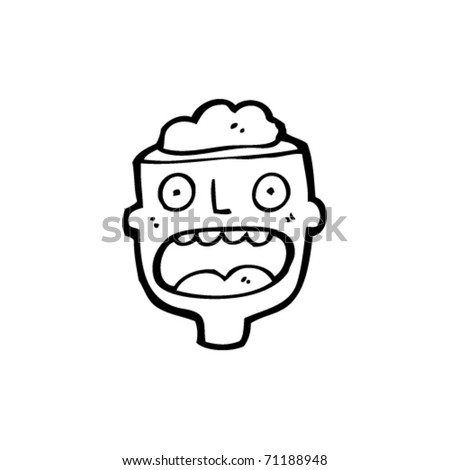 open minded man cartoon - stock vector