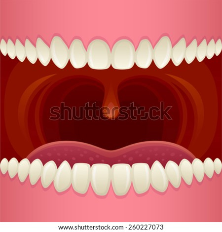 Open mouth - stock vector