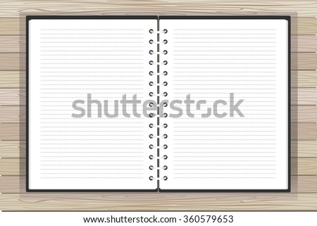 Open notebook with place for text. Vector. EPS10 - stock vector