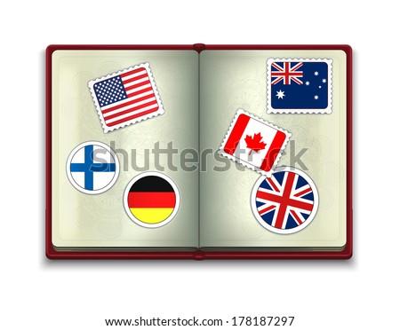 Open Passport - stock vector