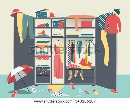 Closet stock photos images pictures shutterstock for Garderobe 3d dwg
