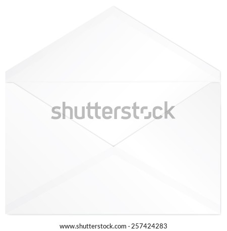 Open white envelope vector isolated - stock vector