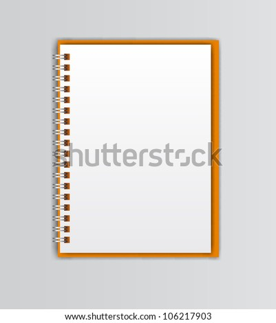 open white notebooks - stock vector