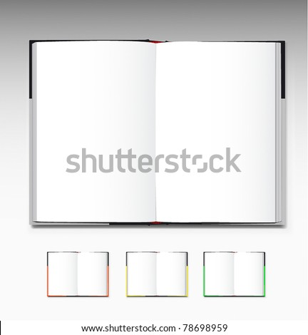 Opened book - stock vector