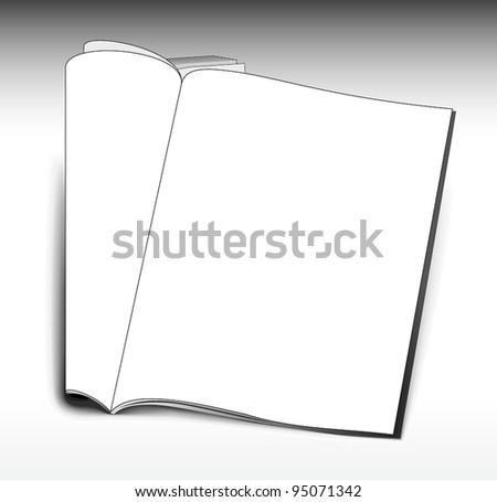 Opened magazine template - stock vector