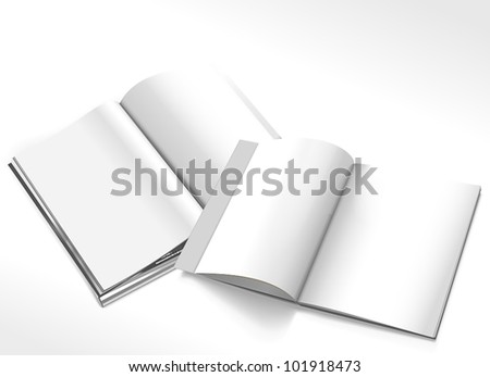 Opened magazines - stock vector