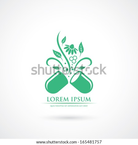 Opened medical capsule - vector illustration - stock vector