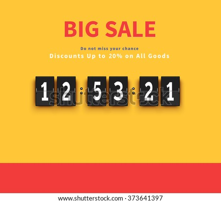 Opening soon. Big sale countdown. Sale big, discount and big savings, huge sale, sale banner, promotion shopping, countdown time, special bog sale, offer banner sale, retail banner timer illustration - stock vector